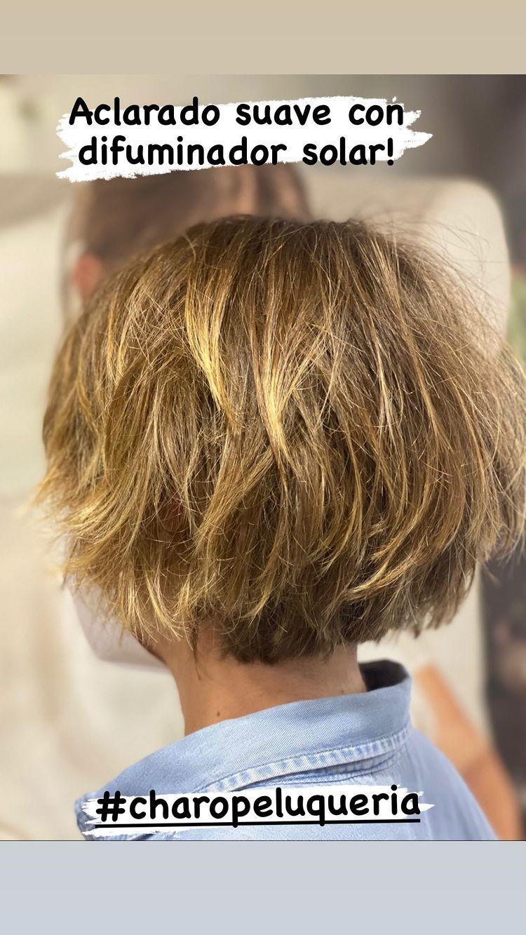 charo peluqueria Aclarado suave con difuminador
